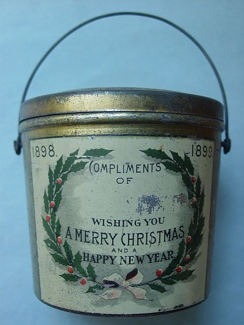 New items list for Christmas tin pails