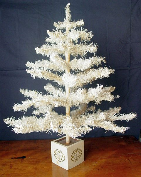 beautiful antique white goose feather christmas tree - Feather Christmas Trees